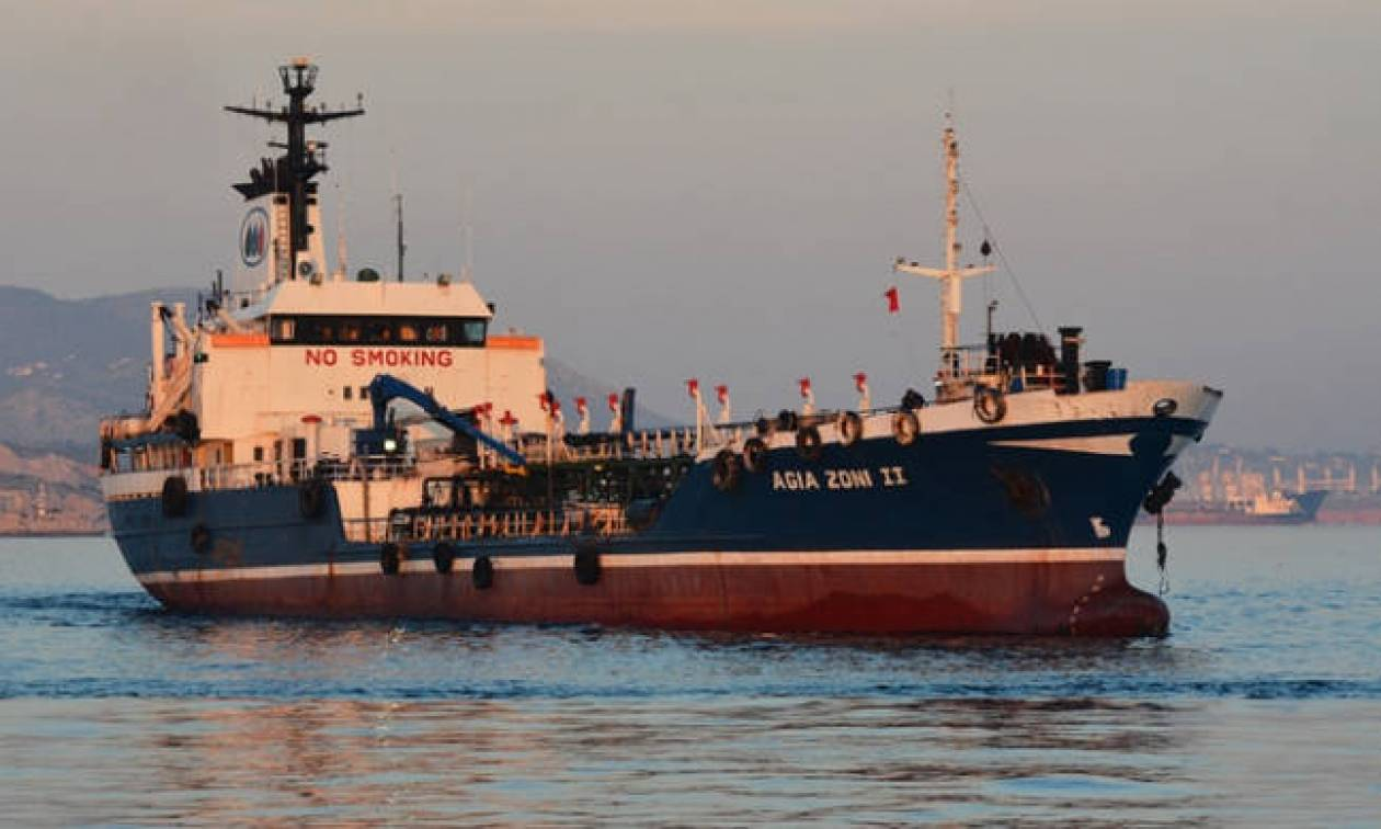 Experts conduct initial inspection on oil tanker 'Agia Zoni II'
