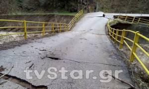 Απίστευτες εικόνες στη Φθιώτιδα: Φούσκωσε ο Σπερχειός - Κίνδυνος να καταρρεύσει γέφυρα