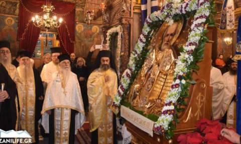 Στην Κοζάνη η εικόνα του Αγίου Νικολάου από τη Μόσχα (pics+vid)