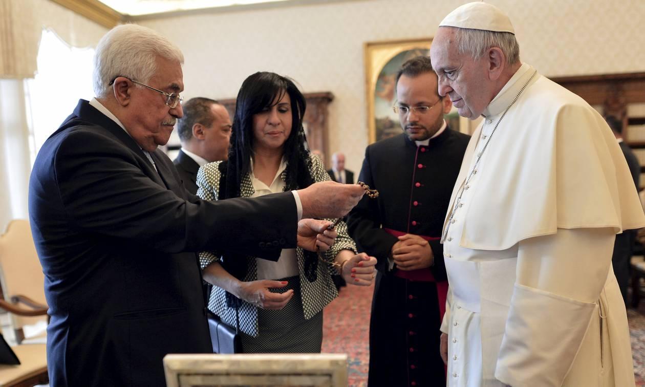 Έκκληση του Αμπάς στον πάπα Φραγκίσκο να παρέμβει υπέρ της Παλαιστίνης