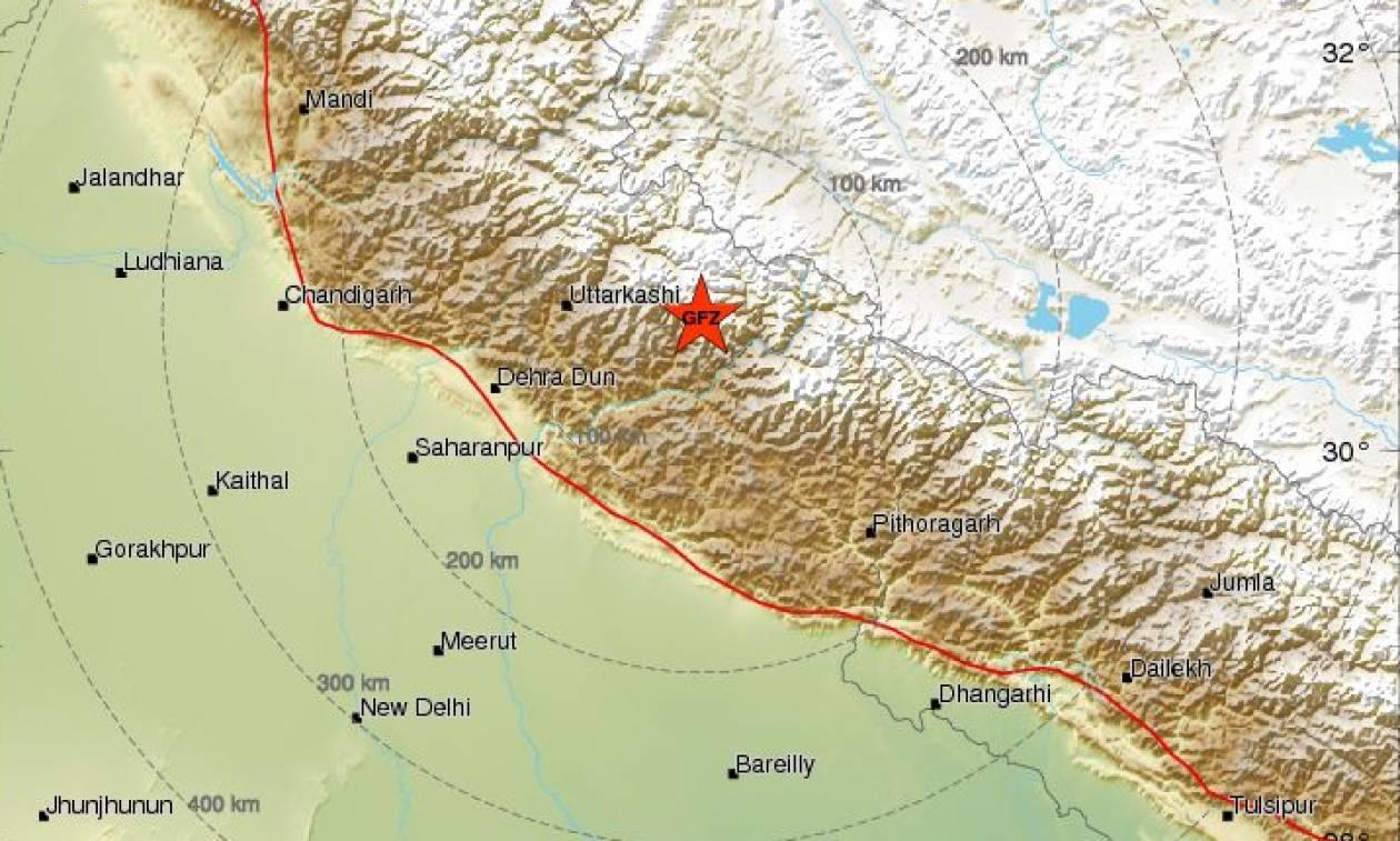 Ισχυρός σεισμός στην Ινδία