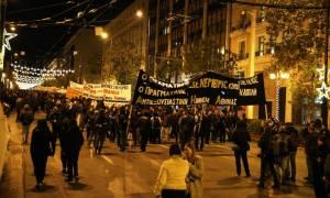 Σε εξέλιξη η πορεία στη μνήμη του Αλέξανδρου Γρηγορόπουλου