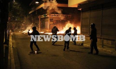Fires and clashes with police in Exarchia after Grigoropoulos march