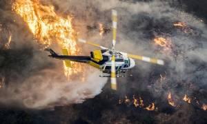 Πύρινη λαίλαπα στο Λος Άντζελες: Στις φλόγες παραδόθηκε το Bel-Air (Pics+Vids)