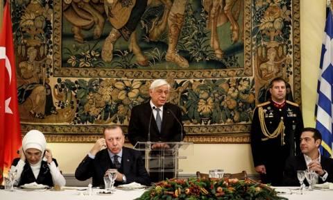 Παυλόπουλος σε Ερντογάν: Αυτά που μας ενώνουν είναι πιο πολλά από αυτά που μας χωρίζουν