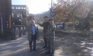 Οχήματα του στρατού στην Αιτωλοακαρνανία (pics)