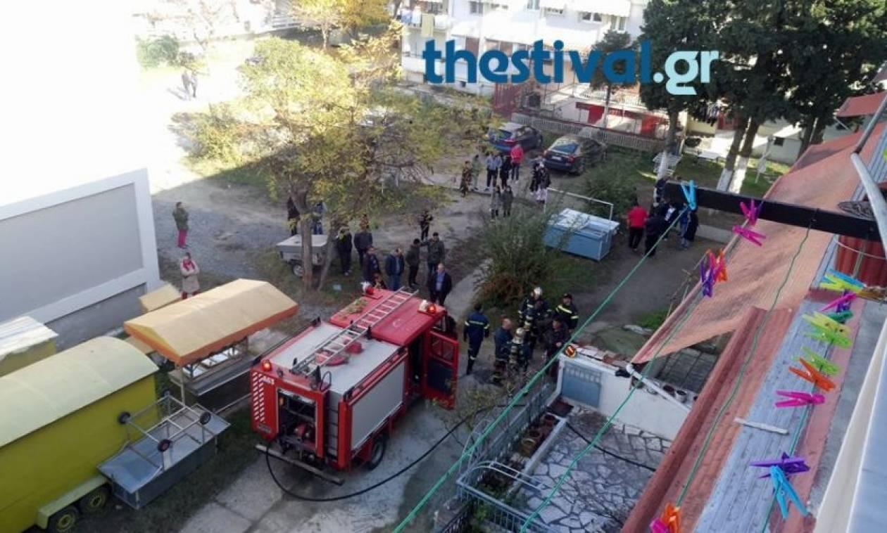 Θεσσαλονίκη: Φωτιά από σόμπα σε διαμέρισμα