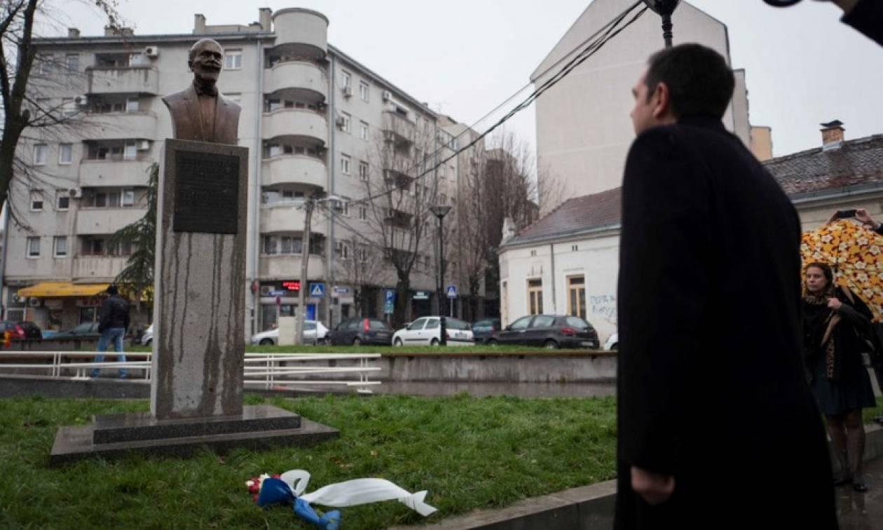 Το μνημείο του Ελευθερίου Βενιζέλου στο Βελιγράδι επισκέφτηκε ο Αλέξης Τσίπρας