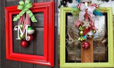 Τριάντα μία ξεχωριστές προτάσεις για χριστουγεννιάτικη διακόσμηση με κορνίζες