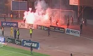 Άγριο ξύλο: Μάχες σώμα με σώμα οπαδών μέσα στο γήπεδο (VIDEO-PHOTOS)