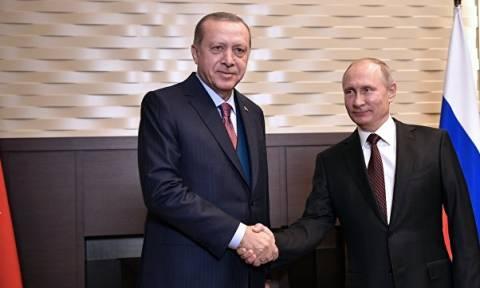 Путин обсудил с Эрдоганом ситуацию на Ближнем Востоке и урегулирование в Сирии