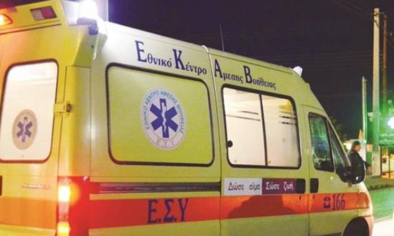 Νέα Κρήτη: Στις φλόγες ασθενοφόρο που μετέφερε ασθενή