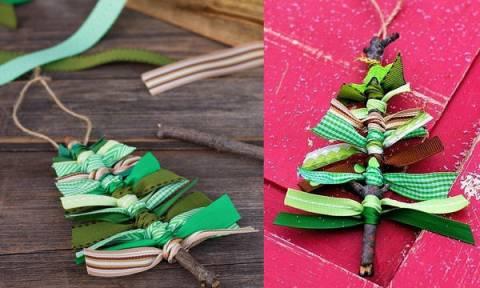 Φτιάξτε minimal χριστουγεννιάτικα δεντράκια με δύο μόνο υλικά