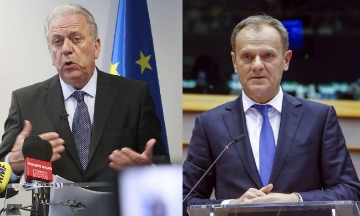 Έξαλλος ο Αβραμόπουλος με την πρόταση Τουσκ για το προσφυγικό