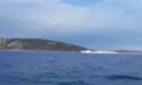 Απίστευτο θράσος των Τούρκων: Ακταιωρός έφτασε μια ανάσα έξω από την Καλόλιμνο (vid)