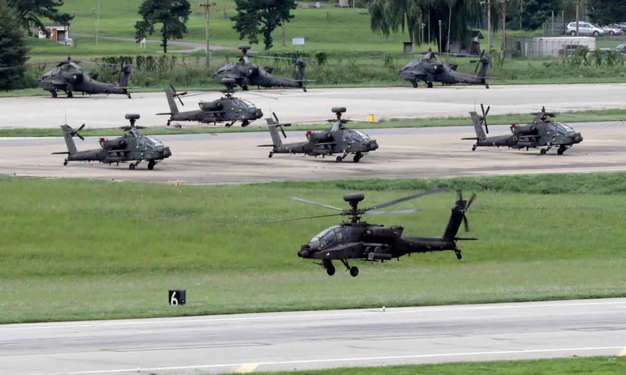Ν. Κορέα: Ελικόπτερα εκτόξευσαν πυραύλους για την αντιμετώπιση «οποιασδήποτε πρόκλησης του εχθρού»