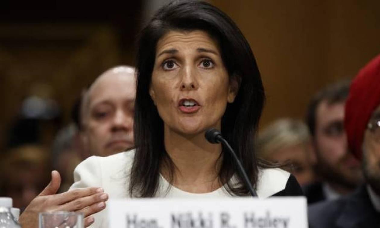 ΗΠΑ: Αποκαλύψεις για το Ιράν υπόσχεται η Νίκι Χέιλι