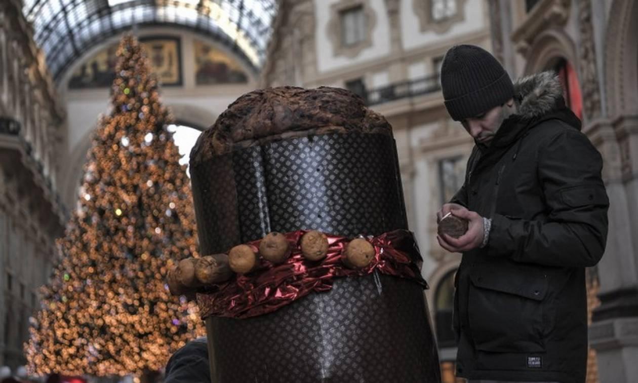 Χριστούγεννα 2017: Το Μιλάνο γιορτάζει με το μεγαλύτερο πανετόνε στον κόσμο (vid)