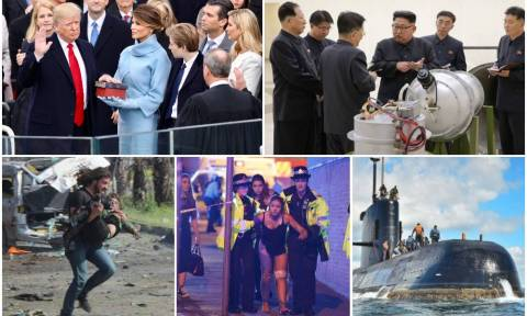 Ανασκόπηση 2017: Αίμα, φόβος και ανασφάλεια «έπνιξαν» τον πλανήτη (pics+vids)