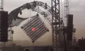 Βίντεο σοκ: DJ σκοτώθηκε όταν κατέρρευσε η σκηνή την ώρα που έπαιζε μουσική