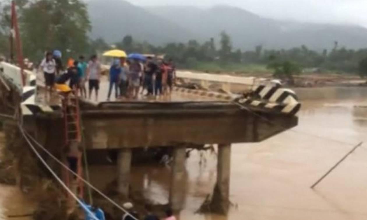 Φονικό πέρασμα της τροπικής καταιγίας Κάι-Τακ από τις Φιλιππίνες (vid)