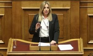 Γεννηματά: Για να βγει η χώρα από την κρίση πρέπει να φύγει αυτή η κυβέρνηση