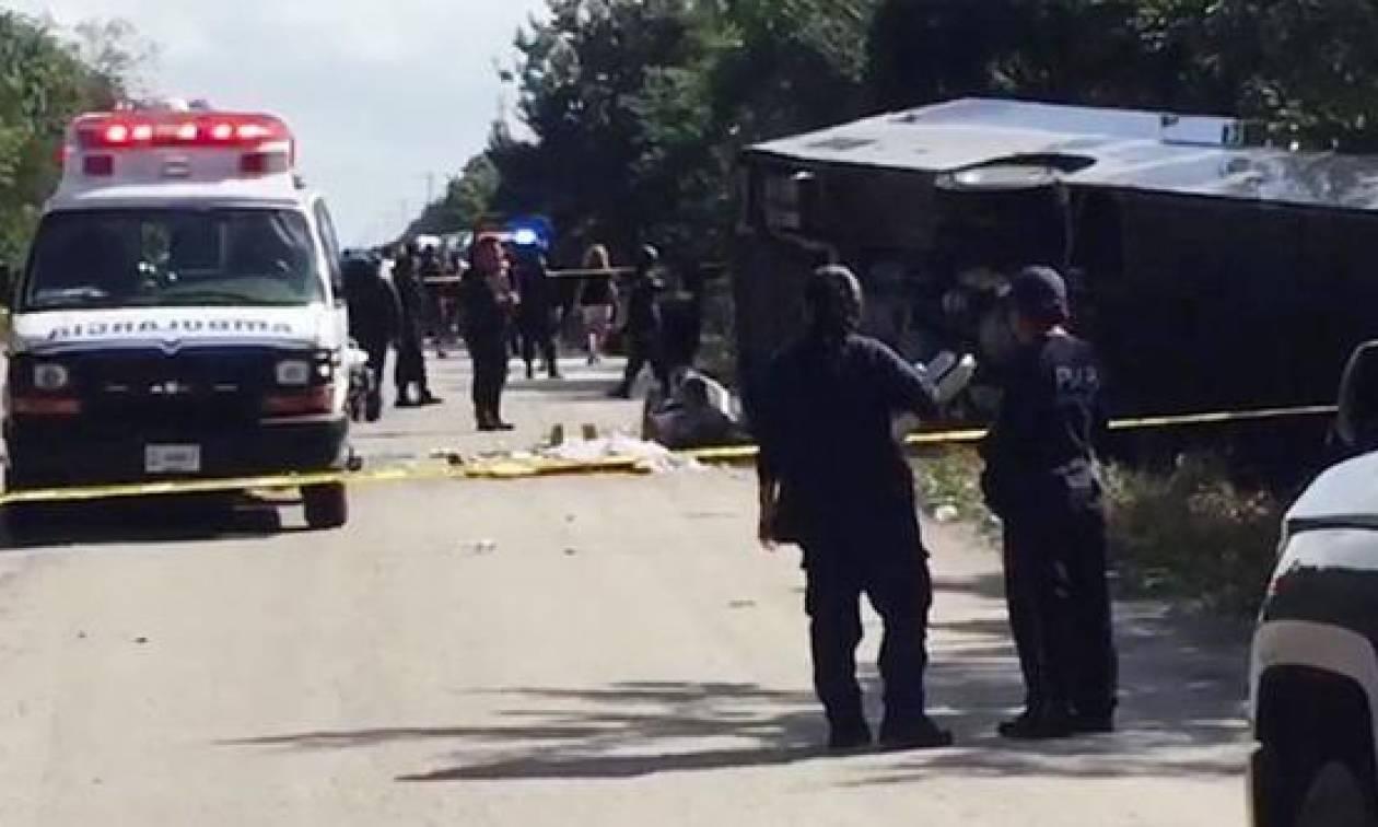 Τραγωδία στο Μεξικό: Έντεκα νεκροί σε τροχαίο δυστύχημα με τουριστικό λεωφορείο (Vid)