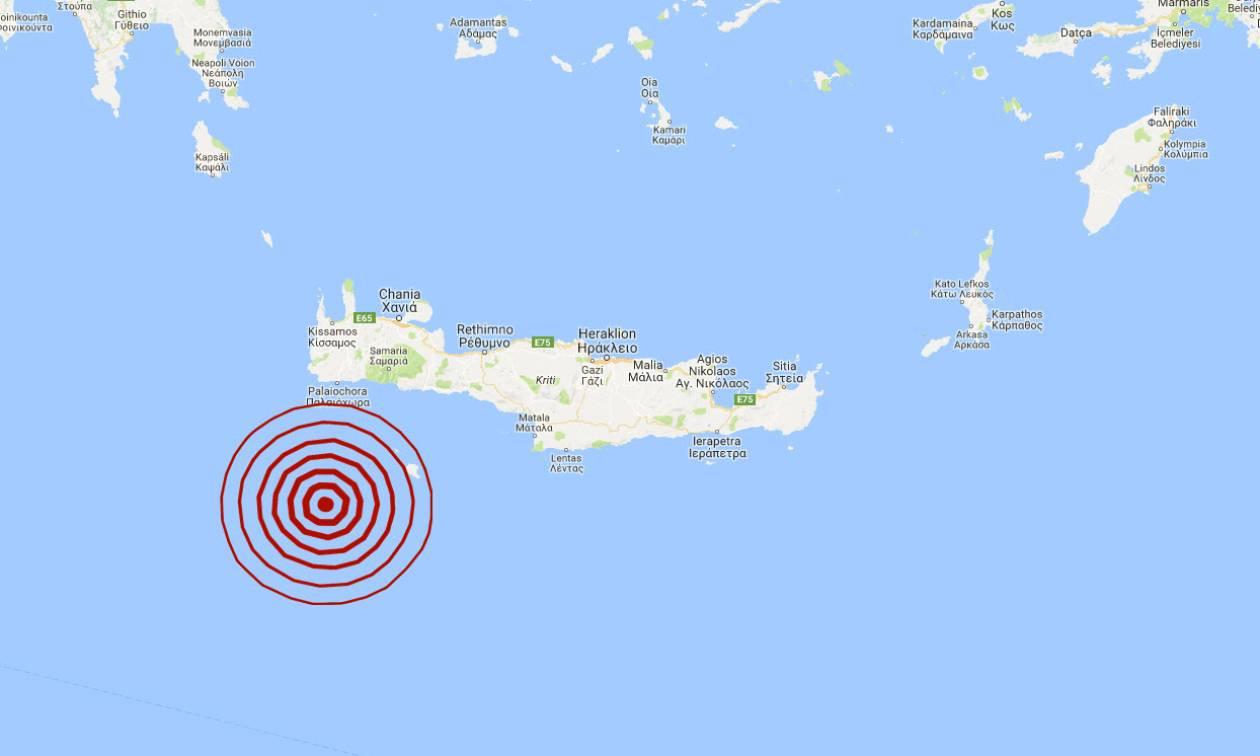 Σεισμός: Ισχυρή δόνηση νοτιοδυτικά της Κρήτης (pics)