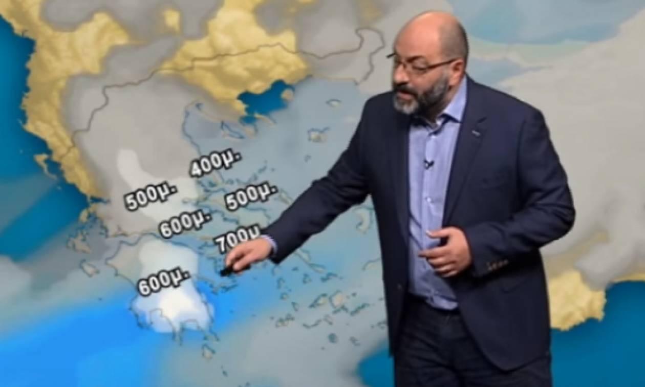 Καιρός: Πού θα χιονίσει; Η πρόγνωση του Σάκη Αρναούτογλου (video)