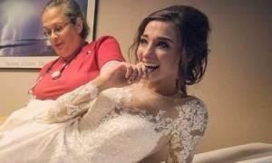 Η γαμήλια ανθοδέσμη την έστειλε... στα επείγοντα!