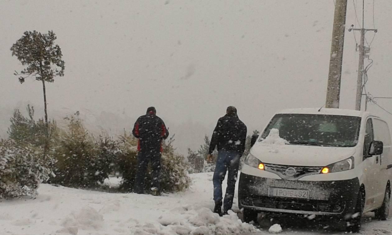 Προσοχή! Προληπτικά μέτρα στους δρόμους της Πελοποννήσου εξαιτίας του χιονιά