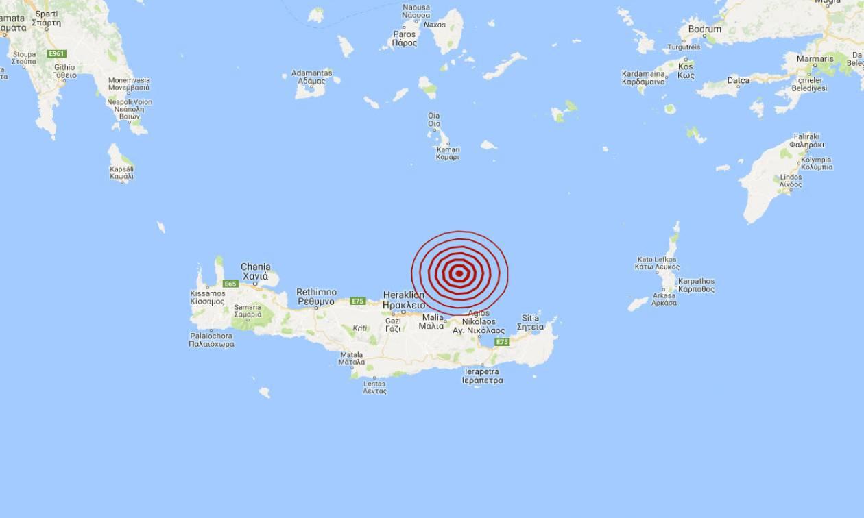 Σεισμός βόρεια της Κρήτης (pics)