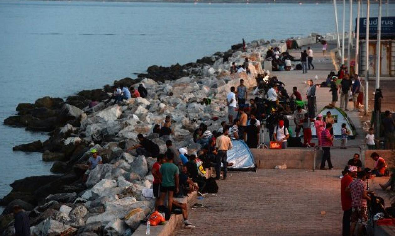 Столкновения между мигрантами наострове Лесбос продлились шесть часов
