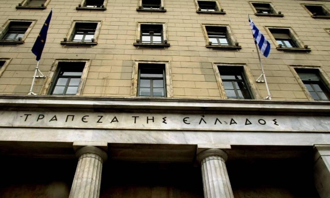 Λιγότερο αισιόδοξη για την ανάκαμψη της ελληνικής οικονομίας η Τράπεζα της Ελλάδος