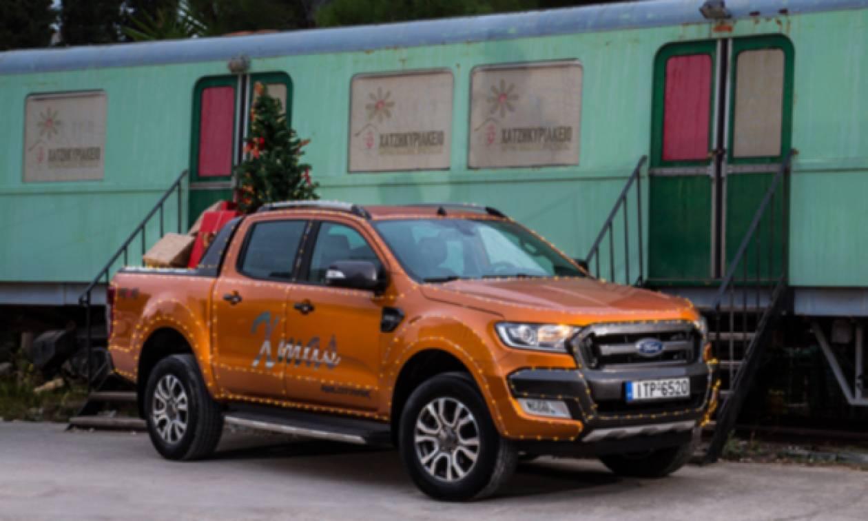 Το Ford Ranger «ντύθηκε» Άγιος Βασίλης και μοίρασε δώρα και χαμόγελα στα παιδιά του Χατζηκυριάκειου
