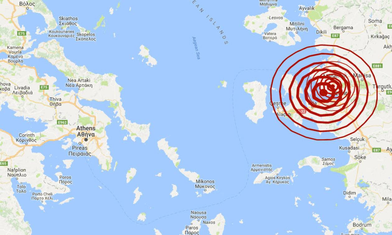 Σεισμός ΤΩΡΑ «ταρακούνησε» Χίο και Μυτιλήνη (pics)