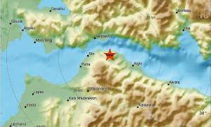 Σεισμός κοντά στην Πάτρα - Αισθητός σε Ρίο και Αίγιο