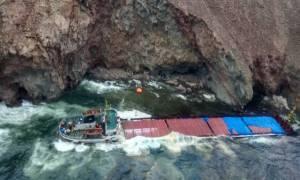 Μύκονος: Εντοπίστηκε ρύπανση από το ναυάγιο – Πλωτά φράγματα για τον περιορισμό της (pics)