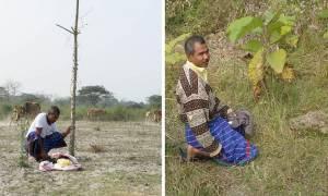 Άνδρας φύτευε καθημερινά στο ίδιο μέρος ένα δέντρο - Το αποτέλεσμα θα σας αφήσει άφωνους! (vid)