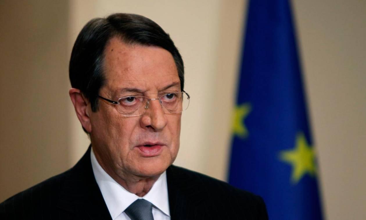 Νίκος Αναστασιάδης: Παράνομες οι ενέργειες της Τουρκίας στην κυπριακή ΑΟΖ