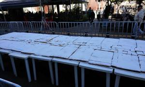 Πρωτοχρονιά 2018: Βασιλόπιτα για ρεκόρ Γκίνες από το δήμο Περιστερίου (pics)
