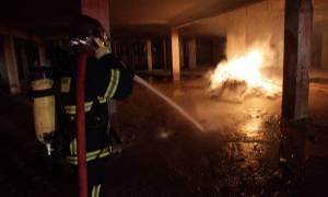 Φωτιά ΤΩΡΑ- Αττική: Στις φλόγες υπόγειο στη Νέα Χαλκηδόνα