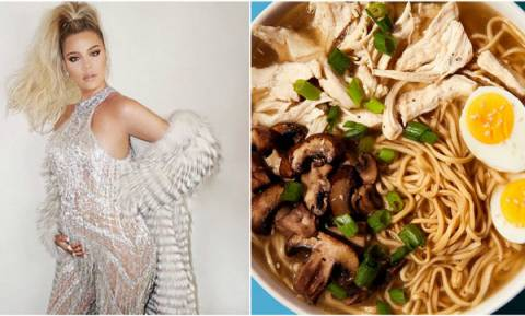 Noodles με κοτόπουλο και μανιτάρια. Η συνταγή της Khloe Kardashian που κάνει θραύση