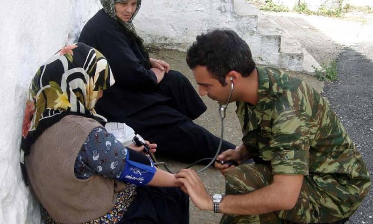 Ο Στρατός δίπλα στους πολίτες: Φαντάροι-γιατροί σε περιφερειακά ιατρεία και κέντρα υγείας