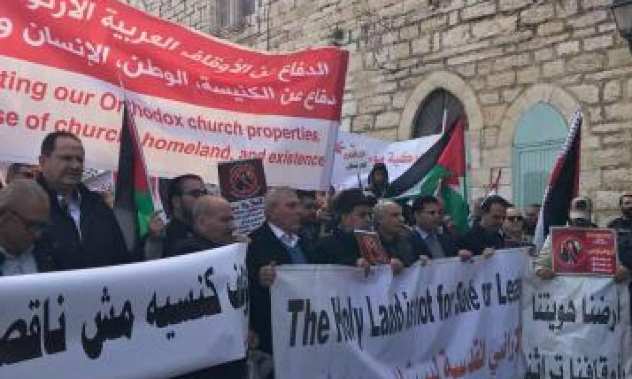 Αποκλειστικό : Επεισόδια στην Βηθλεέμ. Χτύπησαν τα αυτοκίνητα του Πατριάρχη Ιεροσολύμων