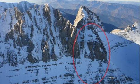 Injured climber on Mount Olympus transferred to refuge