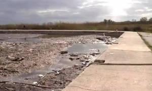 Νέα Κέρκυρα: Τραγική η κατάσταση στο λιμάνι της Λευκίμμης. (Φωτ. – Βίντεο)
