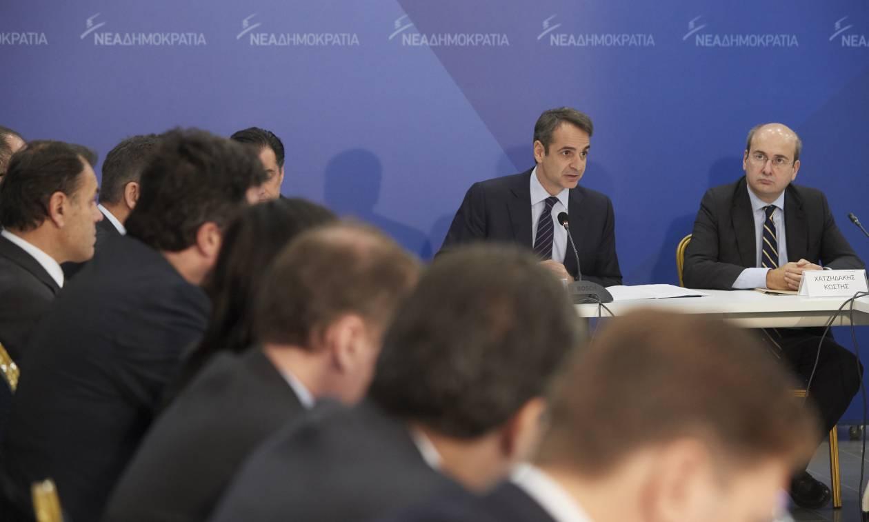 Σκοπιανό: Συνεδριάζουν στις 12:00 οι τομεάρχες της ΝΔ υπό τον Μητσοτάκη