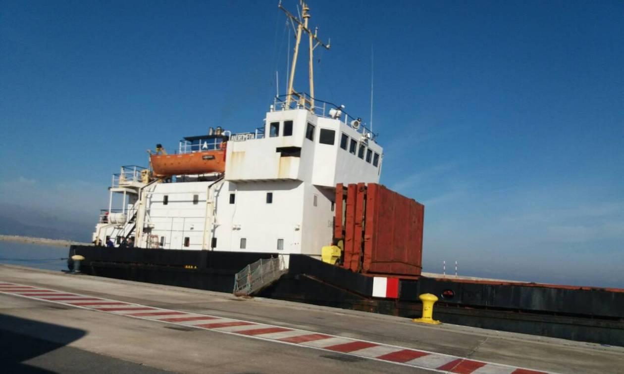 Ηράκλειο:«Κινητή βόμβα» το πλοίο με τα εκρηκτικά - Συνελήφθη το πλήρωμα