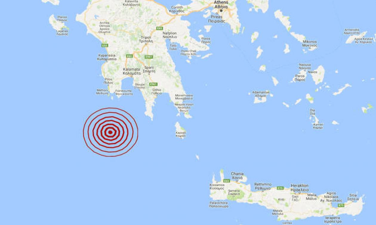 На Пелопоннесе произошло землетрясение 3,5 балла